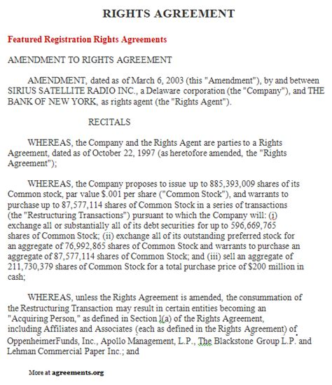 exclusive rights contract template rights agreement sle rights agreement