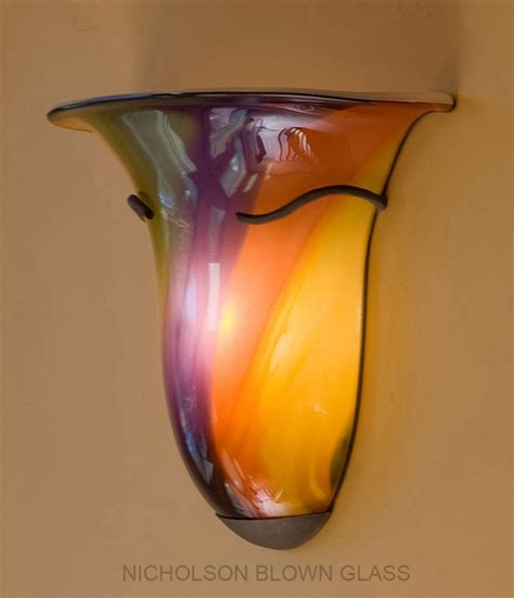 Blown Glass Sconces nicholson blown glass chandeliers sconces