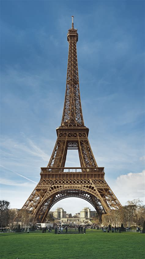 wallpaper android paris eiffel tower paris france blue sky android wallpaper free