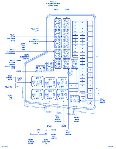 dodge cummins  fuse boxblock circuit breaker diagram