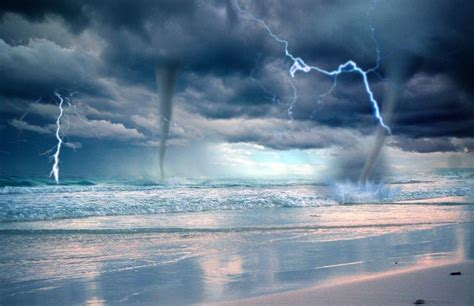Waterspout With Lightning by Pictures Lightning Water Water