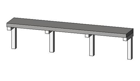 stadium bench revitcity com object stadium bench seating parametric