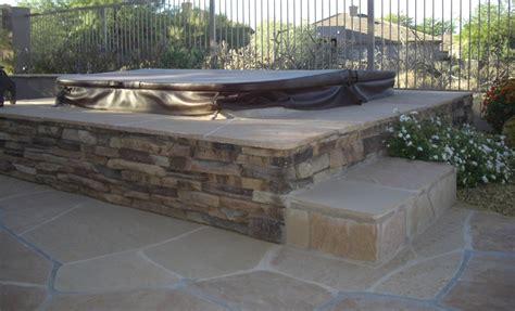 Spa Patio Designs by Spa Surrounds The Patio Design S Finishing Touch