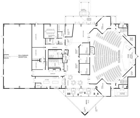 floor plan of auditorium auditorium plan arquitectura educativa pinterest