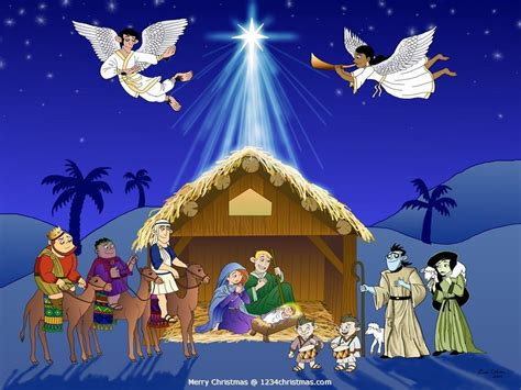 free christmas wallpapers of jesus in a manger free nativity wallpapers wallpaper cave