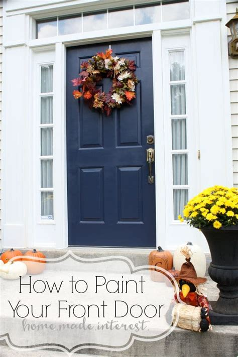 how to paint your front door a simple fall house update how to paint an exterior door