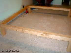 nenny platform bed frame woodworking plans