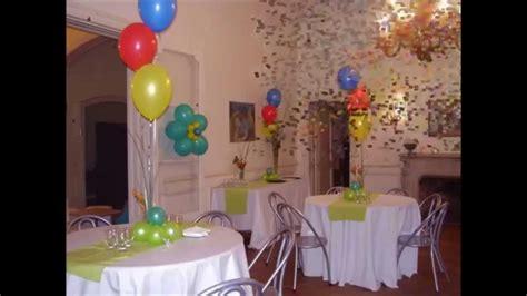 centros de mesas con globos para bautismos