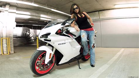 wallpaper girl with bike super cool bikes wallpaper ii