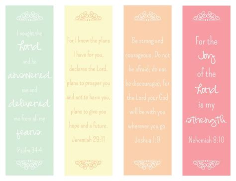 free printable christian bookmarks templates 6 best images of free printable scripture bookmarks free