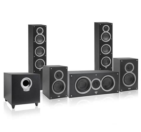 elac debut 5 1 channel home theater speaker system audioshop