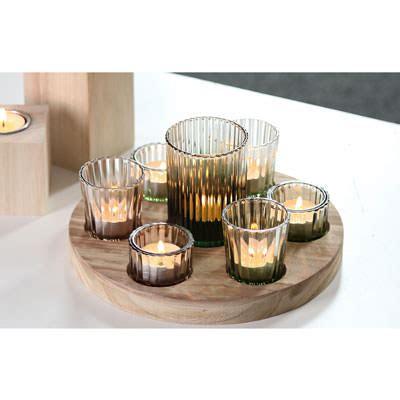kerzenhalter shop kerzenteller aus holz mit 8 teelichthalter kerzenhalter