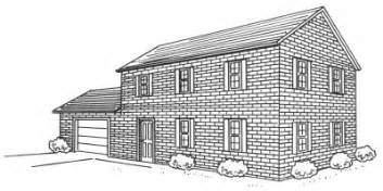 Drawing Of A House With Garage by How To Draw A Two Story Brick House Howstuffworks