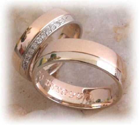 Eheringe Im341 Mit 11 Diamanten Rosegold Und Weissgold Bicolor Poliert trauringe eheringe im341 mit 11 diamanten rosegold und