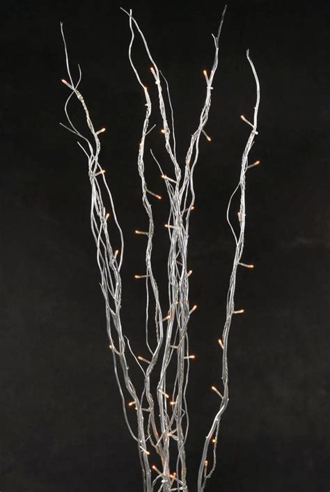 natural curly willow branch rice lights plugs wedding