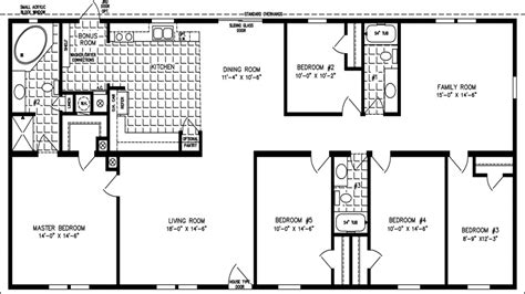 4 bedroom single wide floor plans incredible double wide floor plans 4 bedroom and mobile