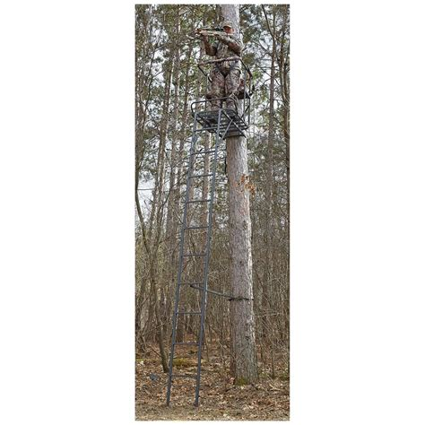 tree stand ladder sections guide gear oversized 18 1 5 person ladder tree stand