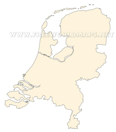 netherlands map blank the netherlands political map