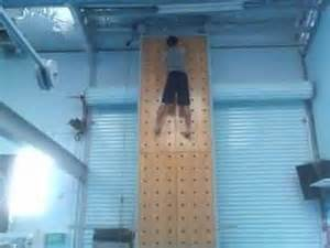 Pegboard Climbing Wall by Me Climbing Up The Peg Board Youtube