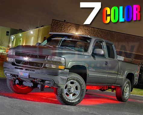 underbody lights for trucks ledglow 6pc 7 color slimline truck underbody underglow smd