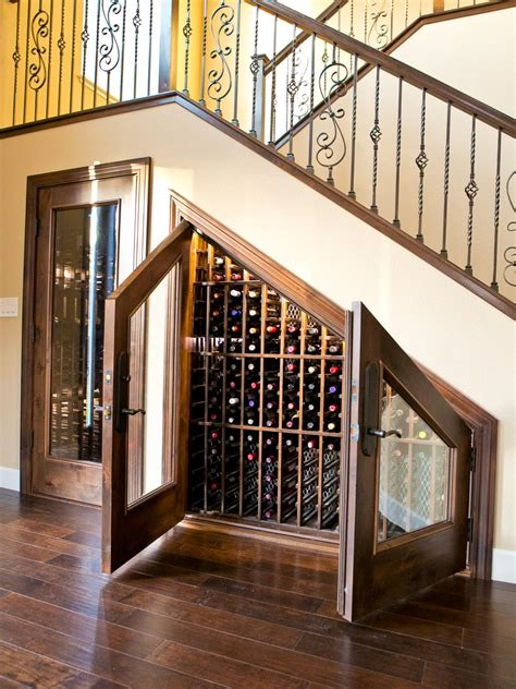 wine storage under stairs photos hgtv