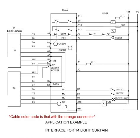 light curtain relay wiring diagram for safety wiring