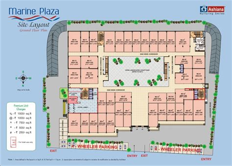 Floor Plan Of Shopping Mall floor plan ashiana marine plaza marine drive sonari