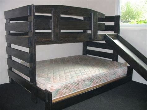 Wood Bunk Bed With Slide Kid Tough Solid Wood Low Bunk Bed With Slide Available In Various Sizes Custom Built By