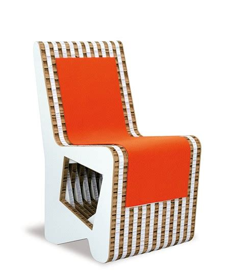 sedia di cartone sedia in cartone stratos avana