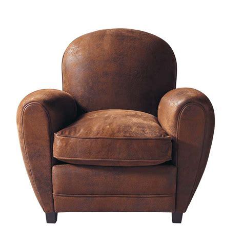 club armchair microfibre club armchair in brown arizona maisons du monde