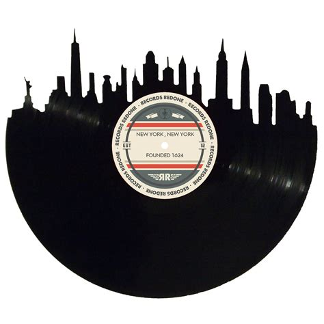 Nyc Records New York City Skyline Records Redone Label Vinyl Record
