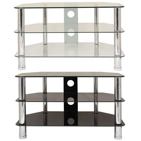 Corner Shelf Tv Stand by 3 Tier Glass Corner Tv Stand Shelf Led Lcd Plasma