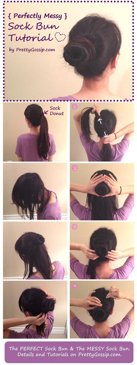 how to diy easy sock bun updo hairstyle with elastic web diy sock bun pictures photos and images for facebook