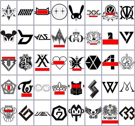 logo kpop idol does anyone recognise these kpop logos if so comment below the names of the ones you k