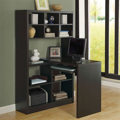 desk with bookcase attached hollow core left or right corner desk with shelf buy now