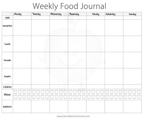 printable food and workout journal importance of keeping a food diary free printout paula