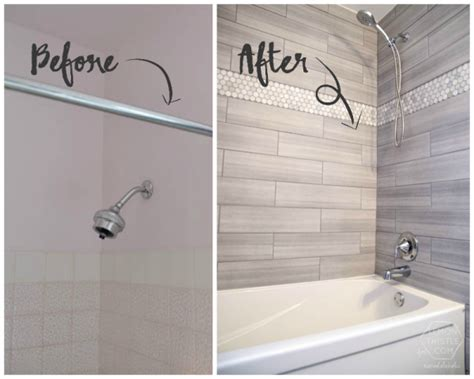 diy bathrooms ideas remodelaholic how to update a tile shower tub in a weekend