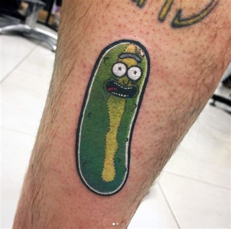 pickle tattoo designs 50 pickle rick ideas for rick and morty designs