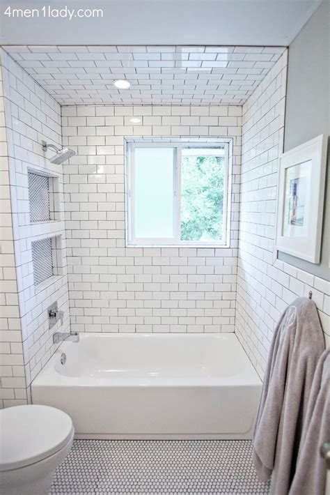 bathroom with subway tiles best 25 tub shower combo ideas on pinterest bathtub