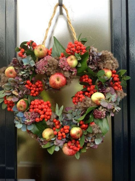home decor wreaths 23 cute and yummy apple wreaths for fall home d 233 cor digsdigs