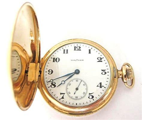antique 14k solid gold waltham pocket