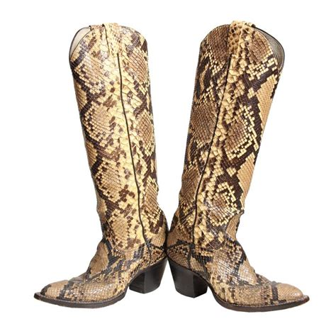 snakeskin cowboy boots for snakeskin cowboy boots from larry mahan at 1stdibs