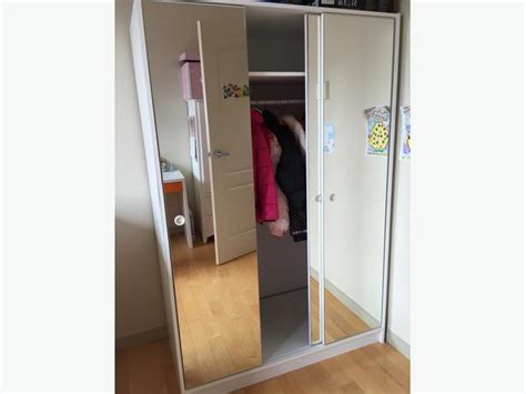 ikea 3 mirror sliding door wardrobe closet cabinet storage