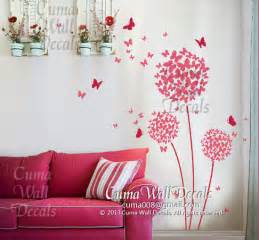 Flower And Butterfly Wall Stickers Wall Decal Butterfly And Flower Vinyl Wall Decal Girl By Cuma
