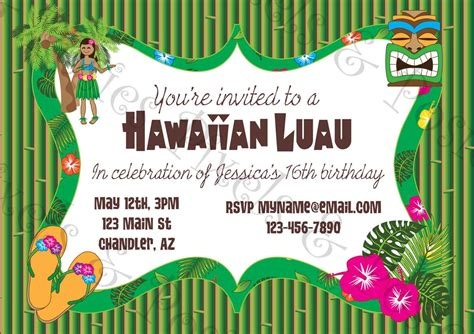 free printable hawaiian luau invitations printable luau invitation clipart clipart suggest