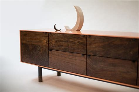 Handcrafted Furniture - chic solid walnut coastal credenza by jeff martin digsdigs