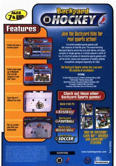 backyard hockey game backyard hockey 2002 windows box cover art mobygames