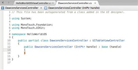 xamarin monotouch tutorial dw software tutorial desarrollo de aplicaci 243 n para ios