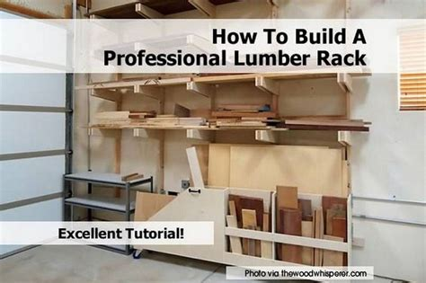 how to build a professional lumber rack