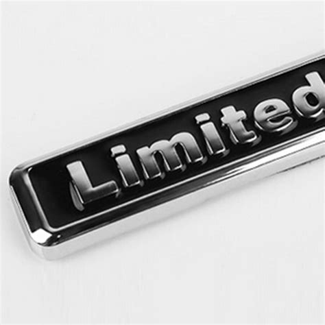 Emblem Limited Edition Kecil 3d Metal Chrome 1pcs 3d chrome black metal sticker car styling quot limited edition quot emblem badge ebay